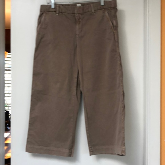GAP Pants - Gap wide leg cropped chinos 10P